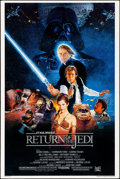 "Movie Posters:Science Fiction, Return of the Jedi (20th Century Fox, 1983). Fine- on Foam-Core. Trimmed One Sheet (27"" X 40.25"") Style B, Kazuhiko Sano Art..."