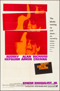 "Movie Posters:Thriller, Wait Until Dark (Warner Brothers-Seven Arts, 1967). Folded, VeryFine. One Sheet (27"" X 41""). Thriller.. ..."