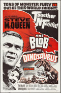 """Movie Posters:Horror, The Blob/Dinosaurus Combo (Allied Artists, R-1964). Folded, Very Fine+. One Sheet (27"""" X 41""""). Horror.. ..."""