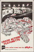 "Movie Posters:Sports, Demo Derby (Pike Productions, 1963). Folded, Very Fine-. One Sheet (27"" X 41""). Sports.. ..."