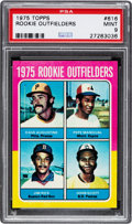 Baseball Cards:Singles (1970-Now), 1975 Topps Jim Rice - Rookie Outfielders #616 PSA Mint 9....