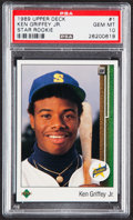 Baseball Cards:Singles (1970-Now), 1989 Upper Deck Ken Griffey Jr. #1 PSA Gem Mint 10....