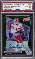 Football Cards:Singles (1970-Now), 2018 Panini National VIP Patrick Mahomes Autograph Numbered 1/25 #13 PSA Gem Mint 10 - Pop One!...