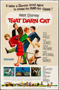 "Movie Posters:Comedy, That Darn Cat (Buena Vista, 1965). Folded, Fine/Very Fine. OneSheet (27"" X 41""). Comedy.. ..."