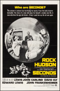 """Movie Posters:Thriller, Seconds (Paramount, 1966). Folded, Very Fine-. One Sheet (27"""" X41""""). Thriller.. ..."""