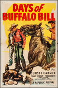 "Movie Posters:Western, Days of Buffalo Bill & Other Lot (Republic, 1946). Folded,Fine/Very Fine. One Sheets (2) (27"" X 41""). Western.. ... (Total: 2Items)"