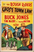 "Movie Posters:Western, Ghost Town Law (Monogram, 1942). Folded, Very Fine-. One Sheet (27""X 41""). Western.. ..."