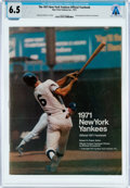 Explorers:Space Exploration, Magazines: The 1971 New York Yankees Official Yearbook Dated 1971, Directly From The Armstrong Family Collection™,...