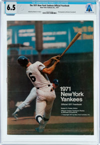 Magazines: The 1971 New York Yankees Official Yearbook Dated 1971, Directly From The Armstrong Family Collection™