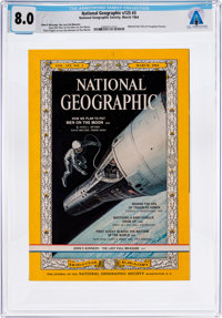 Magazines: National Geographic Dated March 1964, Directly From The Armstrong Family Collection™, CAG Certified and
