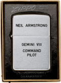 "Explorers:Space Exploration, Neil Armstrong's Personally Engraved Zippo Lighter as Presented at ""The Final Gemini Rendezvous,"" December 2, 1966, Direct..."