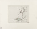 Animation Art:Production Drawing, Ferdinand the Bull Animation Drawing (Walt Disney, 1938).. ...