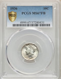 Mercury Dimes, 1936 10C MS67 Full Bands PCGS Gold Shield. PCGS Population:(271/20). NGC Census: (112/11). CDN: $350 Whsle. Bid for proble...