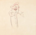 "Animation Art:Production Drawing, Snow White and the Seven Dwarfs ""Silly Song"" ProductionDrawings Group of 2 (Walt Disney, 1937).. ... (Total: 2 Items)"