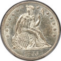 Seated Dollars, 1855 $1 MS62 PCGS. OC-1, High R.3....