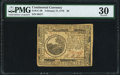 Continental Currency February 17, 1776 $6 PMG Very Fine 30