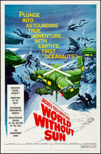 """World without Sun & Other Lot (Columbia, 1964). Folded, Very Fine. One Sheets (2) (27"""" X 41""""). Documentary..."""