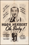 "Movie Posters:Comedy, Oh, Baby (Columbia, 1944). Folded, Fine/Very Fine. One Sheet (27"" X41""). Comedy.. ..."