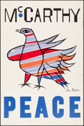 """Movie Posters:Miscellaneous, McCarthy Peace Poster (1968). Rolled, Fine/Very Fine. CampaignPoster (25"""" X 38"""") Ben Shahn Artwork. Miscellaneous.. ..."""