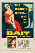 "Movie Posters:Bad Girl, Bait (Columbia, 1954). Folded, Fine/Very Fine. One Sheet (27"" X41""). Bad Girl.. ..."