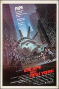 "Movie Posters:Science Fiction, Escape from New York (Avco Embassy, 1981). Folded, Very Fine-. OneSheet (27"" X 41""). Barry Jackson Artwork. Science Fiction..."