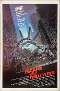 """Escape from New York (Avco Embassy, 1981). Folded, Very Fine-. One Sheet (27"""" X 41""""). Barry Jackson Artwork. S..."""