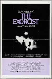 "The Exorcist (Warner Brothers, 1974). Folded, Very Fine. One Sheet (27"" X 41""). Horror"