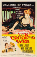 """Movie Posters:Crime, The Crooked Web (Columbia, 1955). Folded, Very Fine-. One Sheet(27"""" X 41""""). Crime.. ..."""