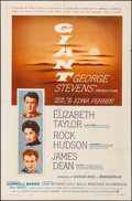 """Movie Posters:Drama, Giant (Warner Brothers, 1956). Folded, Very Fine-. One Sheet (27"""" X41""""). Drama.. ..."""