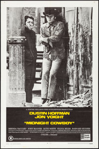 """Midnight Cowboy (United Artists, 1969). Folded, Very Fine+. One Sheet (27"""" X 41""""). X-Rated Style, Academy Awar..."""