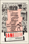 """Movie Posters:Rock and Roll, The T.A.M.I. Show (American International, 1964). Folded, Very Fine. One Sheet (27"""" X 41""""). Rock and Roll.. ..."""