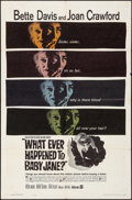 "Movie Posters:Horror, What Ever Happened to Baby Jane? (Warner Brothers, 1962). Folded,Fine/Very Fine. One Sheet (27"" X 41""). Horror.. ..."