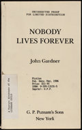 """Movie Posters:James Bond, Nobody Lives Forever by John Gardner (G.P. Putnam's Sons, 1986).Very Fine-. Paperback US Proof Book (301 Pages, 5"""" X 8""""). J..."""