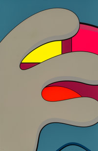 KAWS (American, b. 1974) Untitled, from Ups and Downs, 2013 Screenprint in colors on Saun