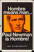"Movie Posters:Western, Hombre (20th Century Fox, 1966). Folded, Fine/Very Fine. One Sheet(27"" X 41"") Advance. Western.. ..."