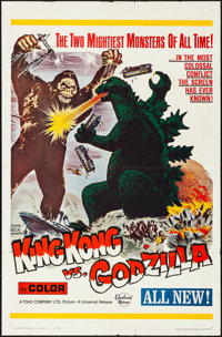 "King Kong vs. Godzilla (Universal, 1963). Folded, Very Fine-. One Sheet (27"" X 41""). Science Fiction"