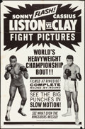 "Movie Posters:Sports, Liston vs. Clay (20th Century Fox, 1964). Folded, Fine/Very Fine. One Sheet (27"" X 41""). Sports.. ..."