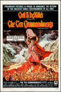 "Movie Posters:Drama, The Ten Commandments (Paramount, R-1972). Folded, Fine/Very Fine.One Sheet (27"" X 41"") Frank McCarthy Artwork. Drama.. ..."