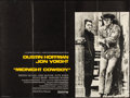 "Movie Posters:Academy Award Winners, Midnight Cowboy (United Artists, 1969). Folded, Very Fine. British Quad (30"" X 40""). Academy Award Winners.. ..."