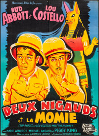 "Abbott and Costello Meet the Mummy (Universal International, 1956). Folded, Very Fine. French Moyenne (22.25"" X 31..."