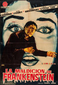 "Movie Posters:Horror, The Curse of Frankenstein (Warner Brothers, 1957). Folded, Fine.Spanish One Sheet (26.5"" X 39.5"") Francisco Fernández ""Jano..."