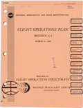 """Explorers:Space Exploration, Neil Armstrong's Personal Copy: NASA """"Flight Operations Plan/ Mission G-1"""" Book Dated March 21, 1969, Directly From The Ar..."""