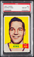 Basketball Cards:Singles (Pre-1970), 1957 Topps George King #6 PSA NM-MT 8....
