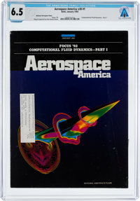 Magazines: Aerospace America Dated January 1992, Directly From The Armstrong Family Collection™, CAG Certified and