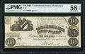 Confederate Notes:1861 Issues, T28 $10 1861 PF-10 Cr. 236B PMG Choice About Uncirculated 58 EPQ.. ...
