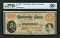 Confederate Notes:1861 Issues, T24 $10 1861 PF-12 Cr. 163 PMG Very Fine 30 EPQ.. ...