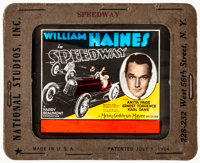 "Speedway (MGM, 1929). Very Fine. Glass Slide (3.25"" X 4""). Sports"