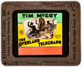 "Movie Posters:Western, The Overland Telegraph (MGM, 1929). Very Fine-. Glass Slide (3.25"" X 4""). Western.. ..."