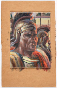 Roy Krenkel - Roman Soldier Painting Original Art (c. 1960s)
