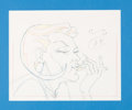Animation Art:Production Drawing, Aeon Flux Production Drawing (MTV, c. 1990s).. ...